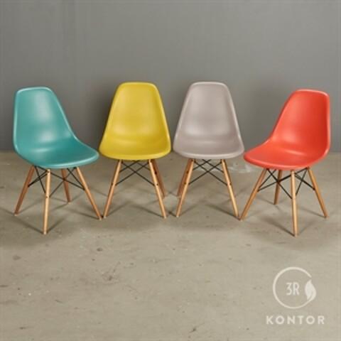 Vitra eames plastic chair, forskellige farver - 4 stk.