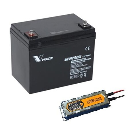 Blybatterier og ladere ENGROS.
