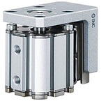 Kompaktcylinder med indbygget føring