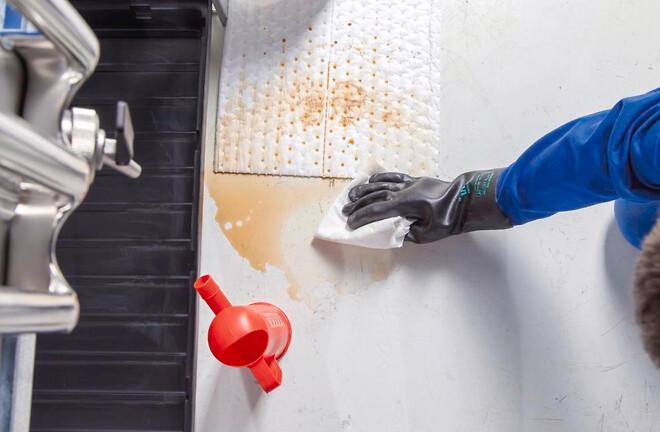 Absorberende oliemåtter og absorbenter