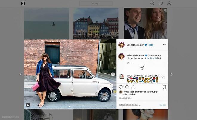 Biltorvet sælger Fiat 500 som Helena Christensen elsker
