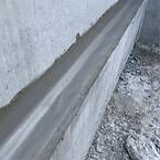 Hulkehle udført i cementmørtel med i lagt tætningsbånd