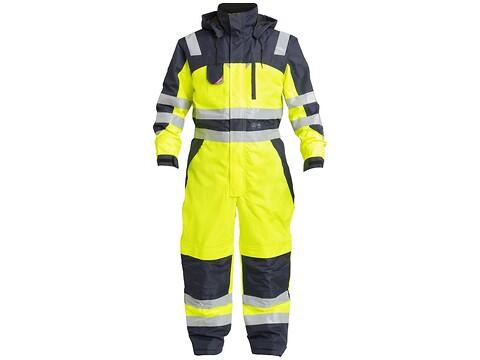 Vinterkedeldragt safety gul/marine - str. l