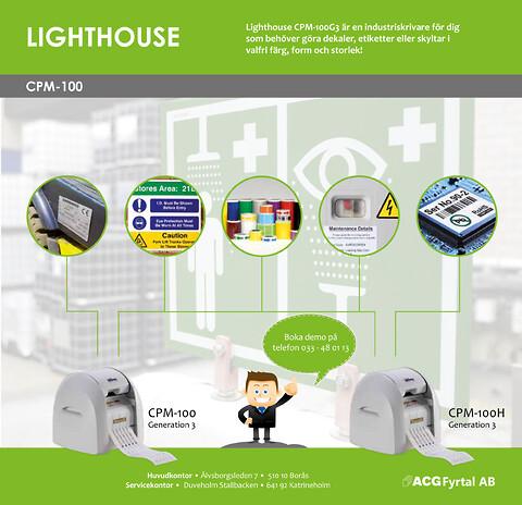 Lighthouse CPM-100, en flexibel och användarvänlig dekalmaskin