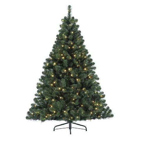 Imperial grantræ med led lys, 120cm, kunstig gran