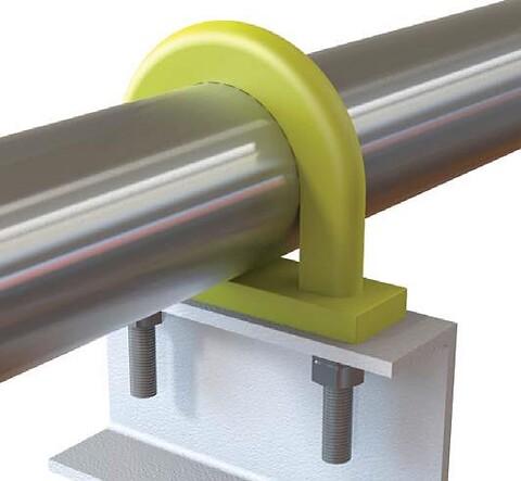 VHT pipe support fra James Walker for temperaturer opp til +350 °C