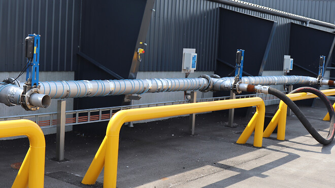 AVK spadeventiler installeret til aftapning af biopulp til biogasanlæg