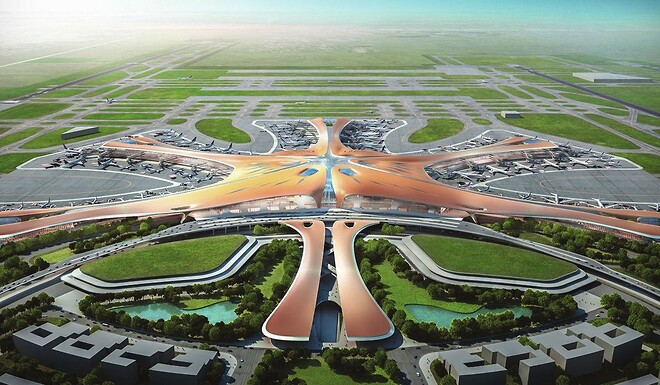 Wieland Electric leverer podis® con fladkabel system til Beijing Daxing International Airport .