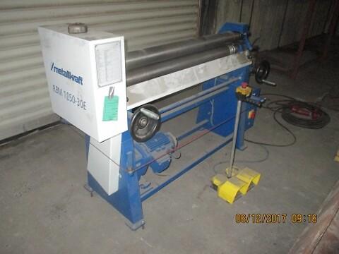 Brugt metalkraft pladevalse 3x1050MM som ny sælges