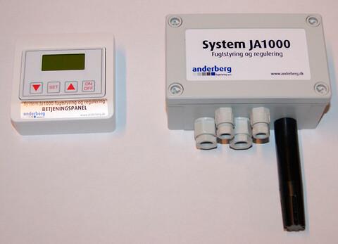 JA 1000 fugtstyring - JA 1000 fugtstyring er designet til on/off styring af Condairs produkter.