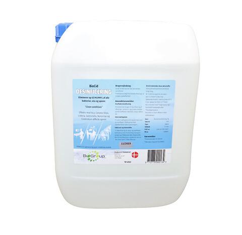 BioCid Desinficering 1x10 liter - Biologisk nedbrydelig desinfektion uden sprit og klor