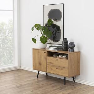 skænk, møbel, skandinavisk, Actona Company, stue, indretning, melamin, trælook
