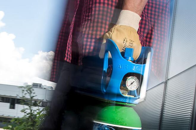 God ergonomi med gasflaska ALbee från Air Liquide