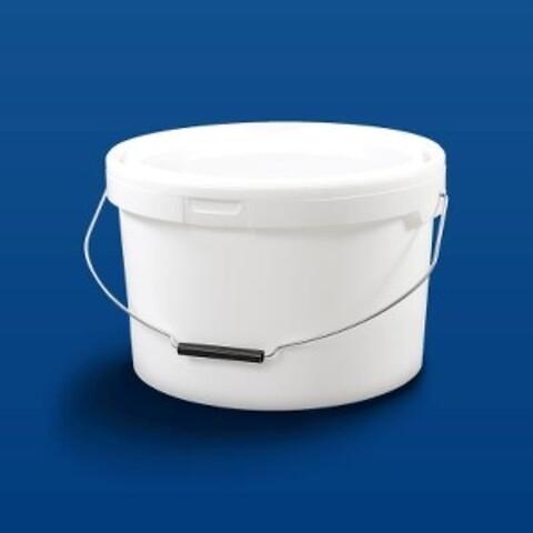 Plastspand HOM13000/10-13,6 l- m/metalh.- hvid