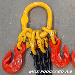 Kædesling i stålkvalitet 80, 100 og 120 lagerføres