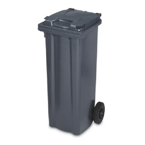 Affaldscontainer 2-hjulede 140 l - antracitgrå