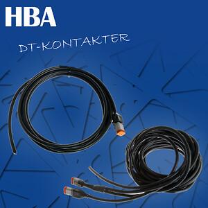 Dt-kontakter med kablar
