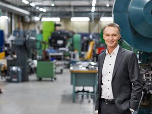 Ola Tengroth, CEO, Lesjöfors, ambassadör Elmia Subcontractor 2020.