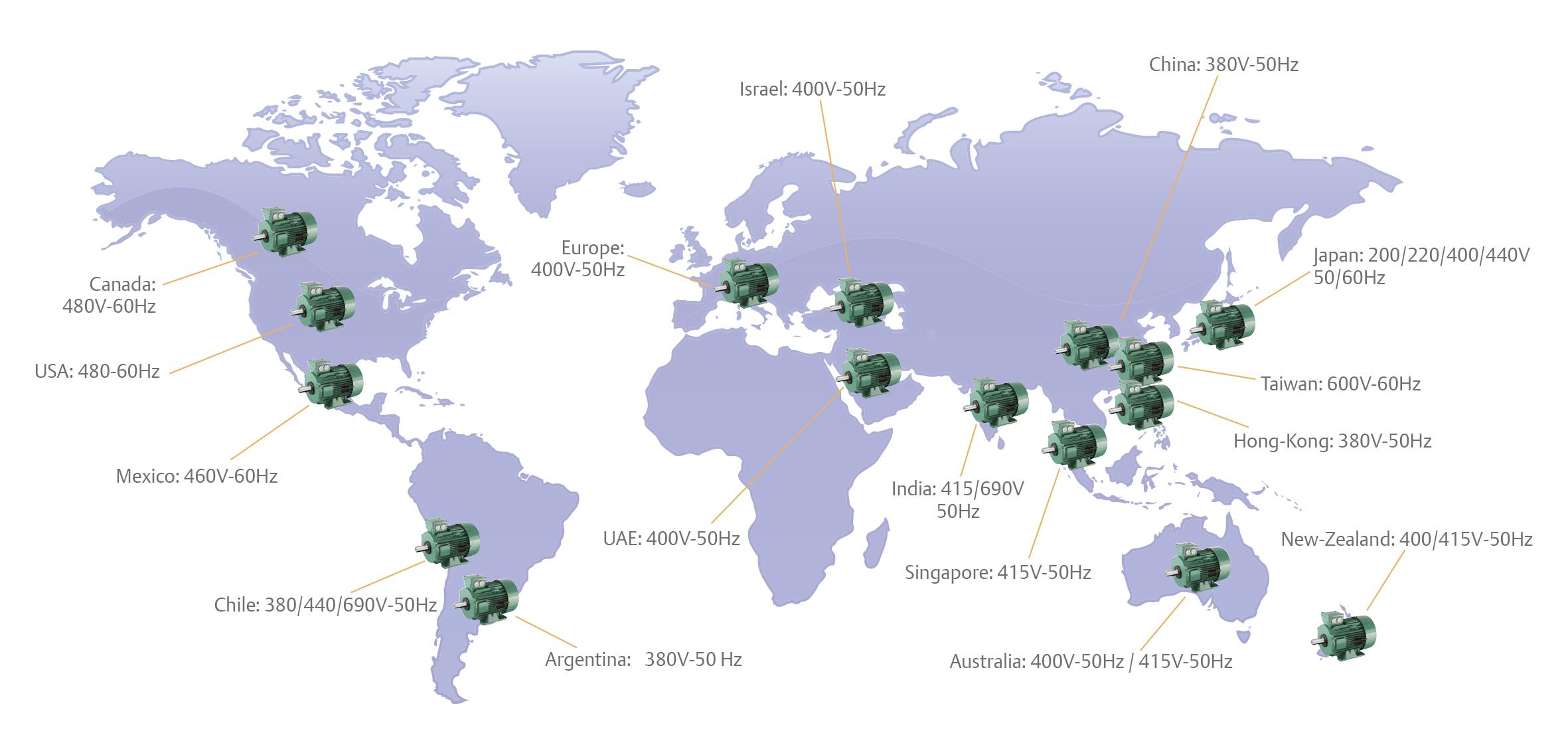 verdenskort med verdensdele