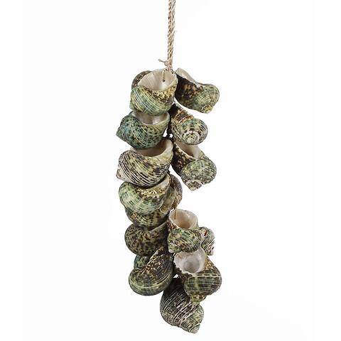 Ranke af vinbjergsnegle, 38cm, ægte skaller