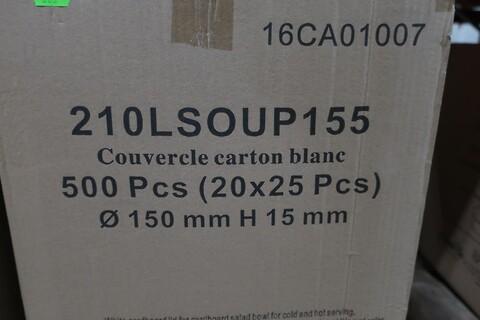 1000 stk. hvidt paplåg - type 210LSOUP155