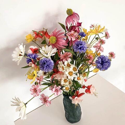 Blomster til signe buket, vildmarks buket, pjusket/farverig