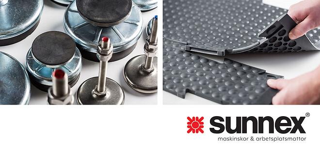 Sunnex maskinskor och ergonomiska arbetsplatsmattor