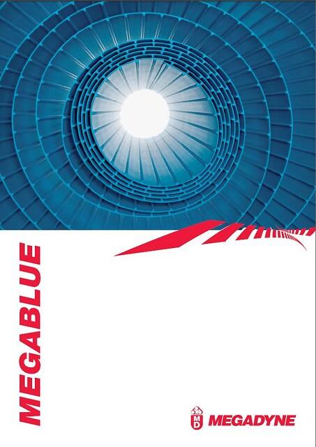 Megablue - Transportbånd med fortandet bagside
