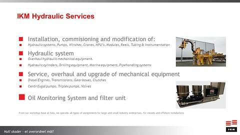 Service, overhaling og oppgradering av mekanisk utstyr:
