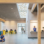 Södra Älvsborg Hospital i Borås, design av White Arkitekte. Troldtekt akustik. Södra Älvsborg Hospital i Borås, design av White Arkitekter.