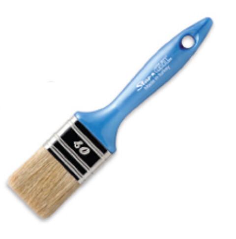 Fladpensel med blåt skaft, 40 mm