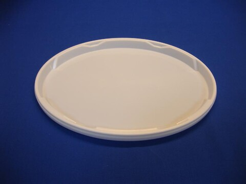 Oval plastlåg DOEP11-12500 - 344x264 mm - hvid
