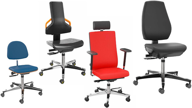 Arbejdsstol til laboratorie, produktion og kontor