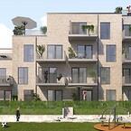 Vallensbæk Gårdhaver, teglsandwich-elementer, betonelementer