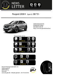 Peugeot 2008 II Dragkrok fron GDW