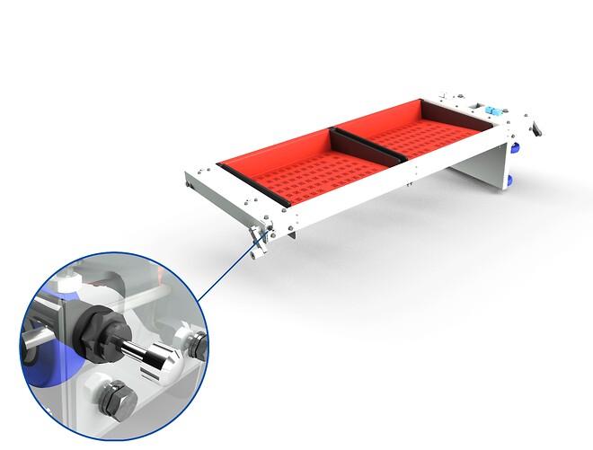 ACE installation af miniature støddæmper som stabiliserer og reducerer vibrationer