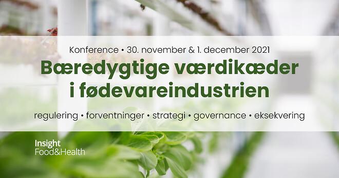 Bæredygtige værdikæder i fødevareindustrien den 30. november og 1. december