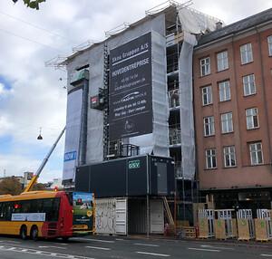 Skou Gruppen bygger om på Blegdamsvej 42, så der til næste år står to helt nye lejligheder klar til udlejning.