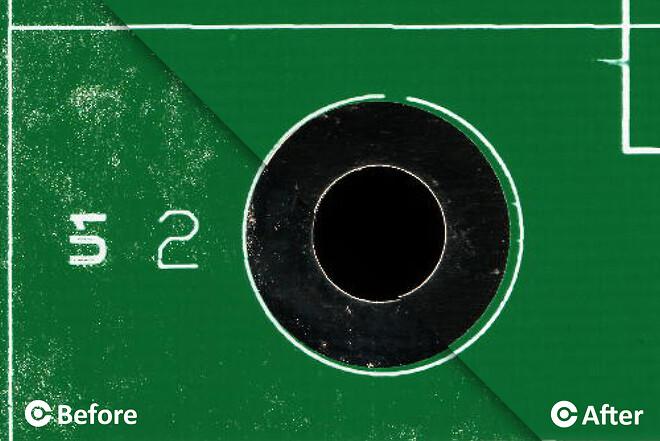 PCB rengøring - før og efter | CORE-emt