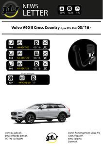 Volvo V90 Cross Country\navtagbar dragkrok från Dansk Anhængertræk GDW