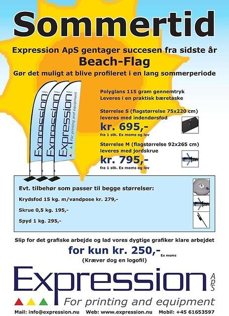 Beachflag fra 695,-  inkl. fod