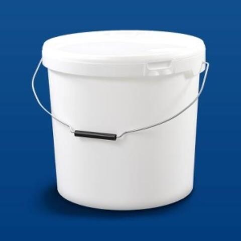 Plastspand HOM21000 - 21,2 l.- m/metalh. - hvid