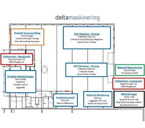 Delta Maskinering AS tilbyr variert maskinpark