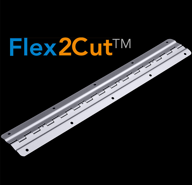 Flex2Cut Skräddasydda pianogångjärn anpasade för alla typer av luckor. Lås och gångjärnsspecialisten Aero Materiel