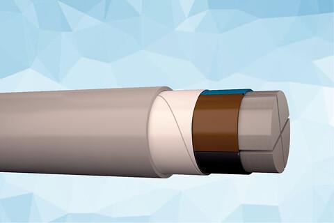 PEX-AL-M 1 kV aluminium elforsyningskabel