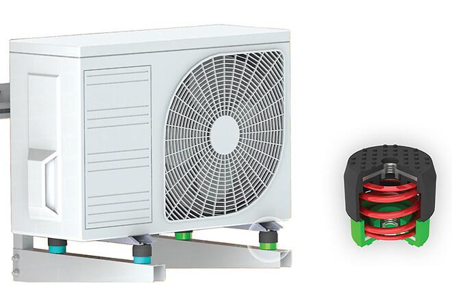 Vibrationsdæmpere til varmepumper