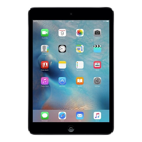 Apple iPad Mini 64GB WiFi + Cellular 4G LTE NANOSIM (Sort) - Grade B - tablet