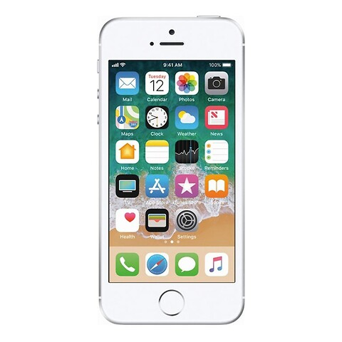 Apple iphone se 128GB (sølv) - grade b - mobiltelefon