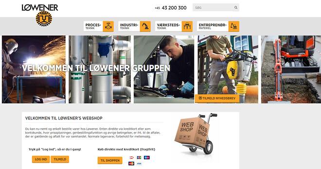 Fri fragt når du handler med kreditkort på Løweners website