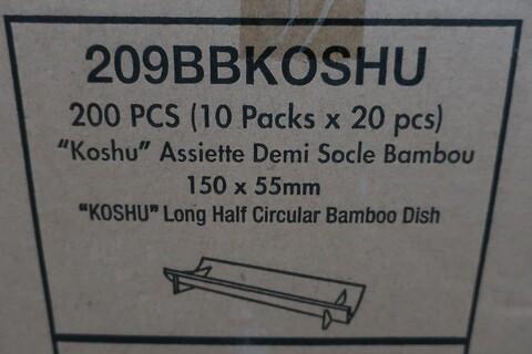 1000 stk. halvcirkulært bambusfad firstpack 209BBKOSHU